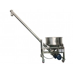 Auger food conveyor - Small hopper model