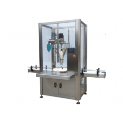Automatic canning machine for powder