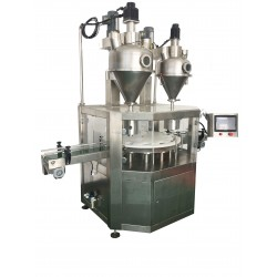 High precision automatic powder canning machine