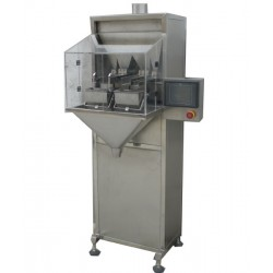 Semi-automatic bagging machine for granules - 2 heads, small sachet version