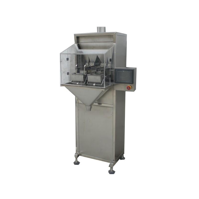 Semi-automatic bagging machine for granules - 2 heads, small sachet version