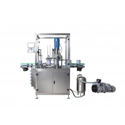 Vacuum sealing machine for tin cans with nitrogen filling
