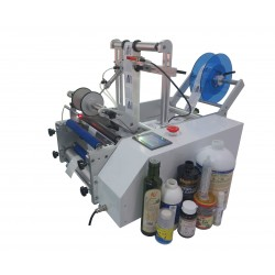 Semi-automatic labeling machine for round bottles model SL-RB - All applications