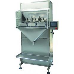 Semi-automatic bagging machine for granules - 3-head sachet version