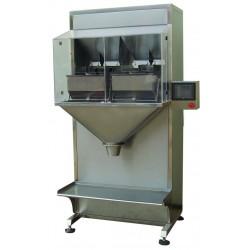 Semi-automatic bagging machine for granules - 2 heads, big sachet version