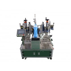 SL-RV Semi-Automatic double-sided labeling machine for flat surfaces - In operation